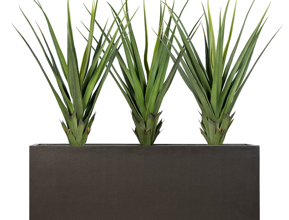 Artificial Pandanus with Trough Planter