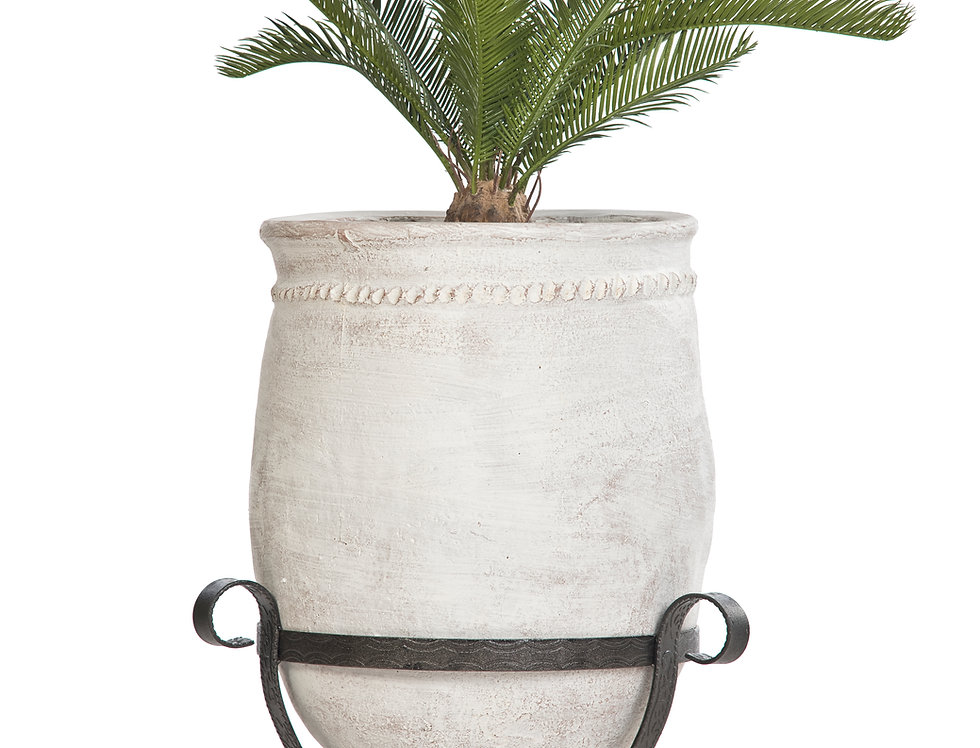Artificial Cycas Palm with Mediterranean 2 Planter & Stand