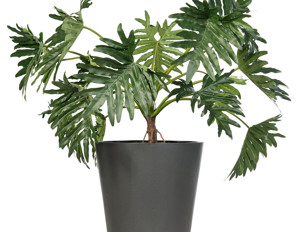 Artificial Philodendron with Geo Round Planter