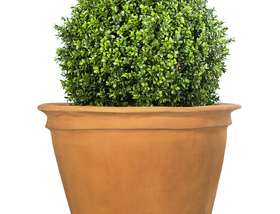 Artificial Box Ball with Plain Planter