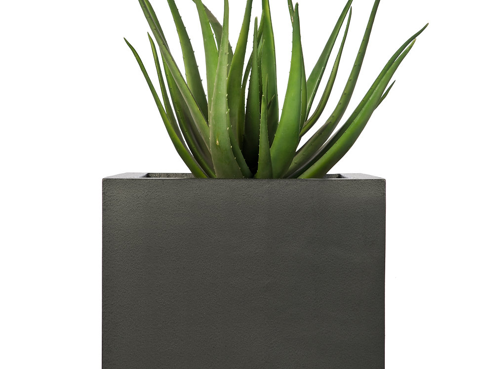 Artificial Aloe Plant with Geo Cube Planter