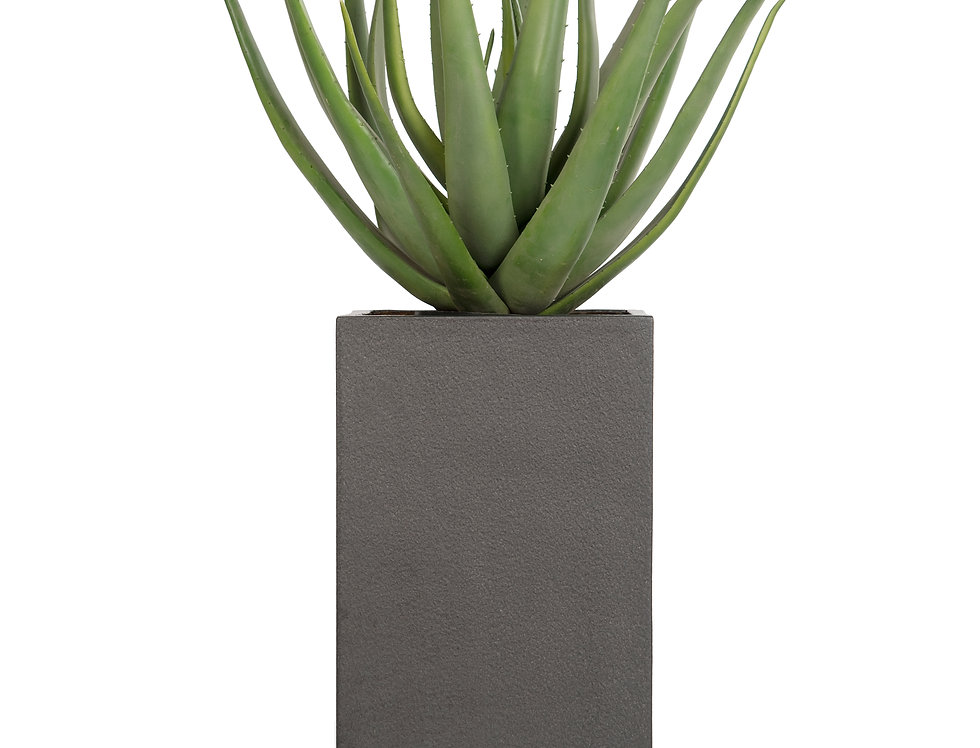 Artificial Aloe Plant with Geo Square Planter