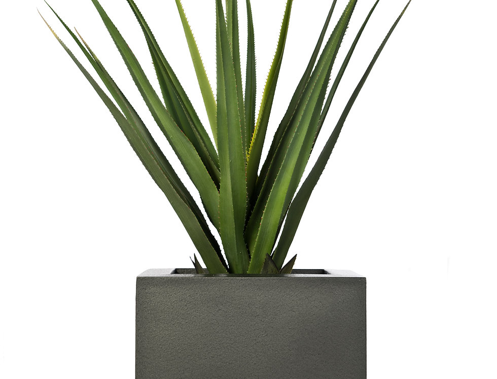 Artificial Pandanus with Geo Cube Planter