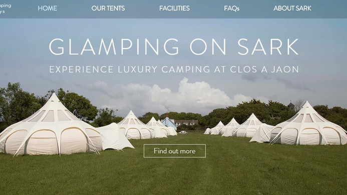 Sark Camping Holidays - Homepage - Top