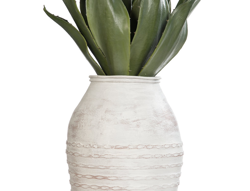 Artificial Agave with Mediterranean 1 Planter