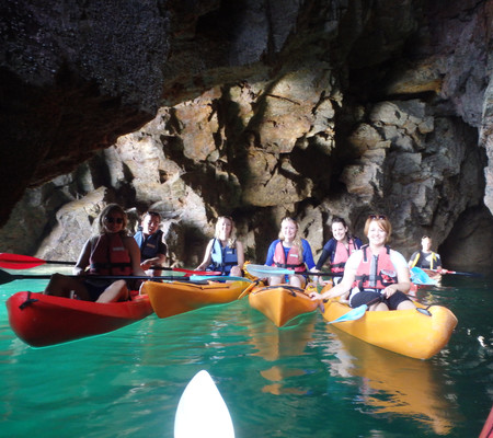 Action and Adventure in Sark - Kayaking