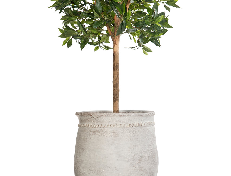 Artificial Bay Tree with Mediterranean 2 Planter & Stand