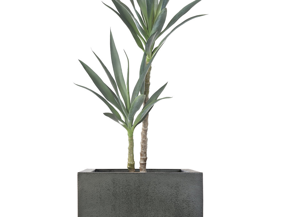 Artificial Yucca Plant with Geo Cube Planter