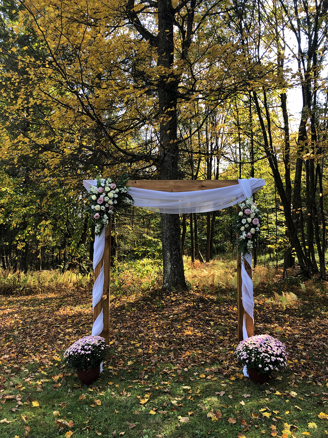 October Wedding Arbor