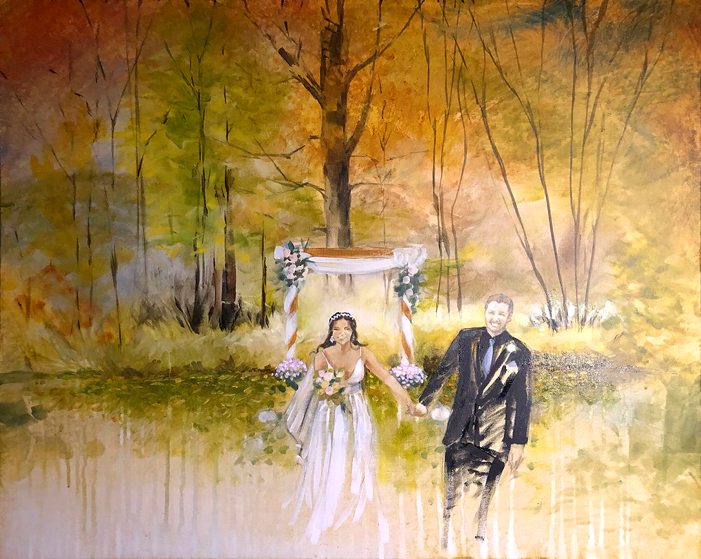 October Wedding Painting