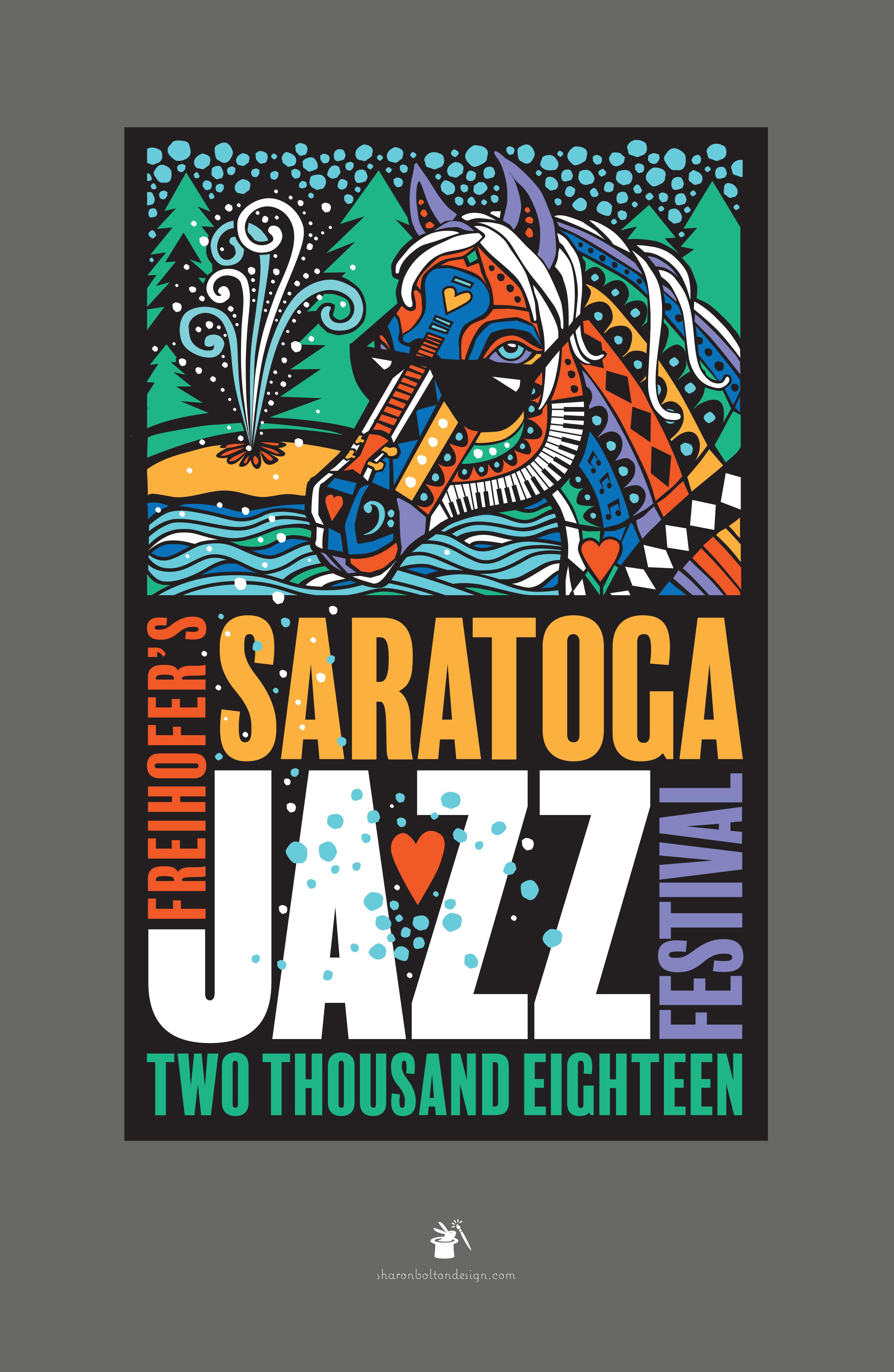 2018 Saratoga Jazz Poster