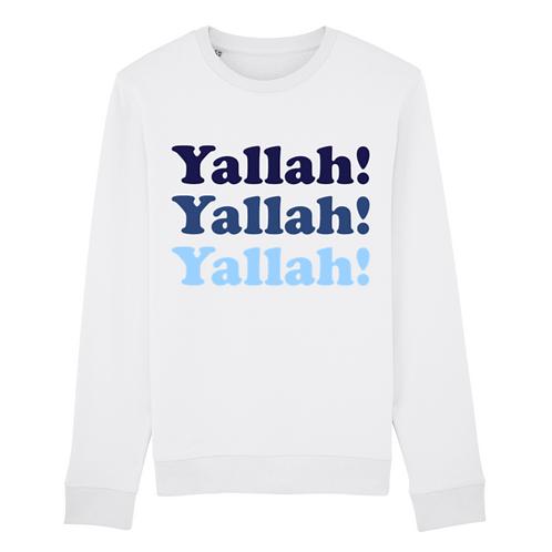 Sweatshirt Blanc Yallah Blue
