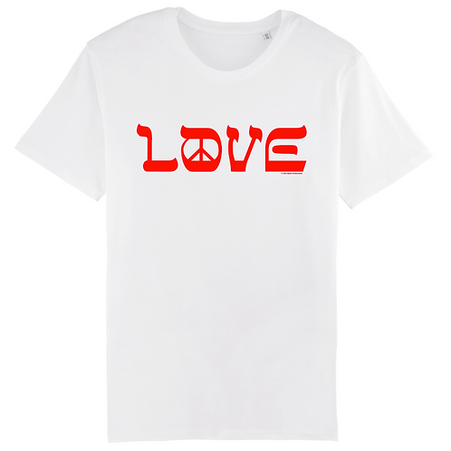 T-Shirt Love & Peace Red