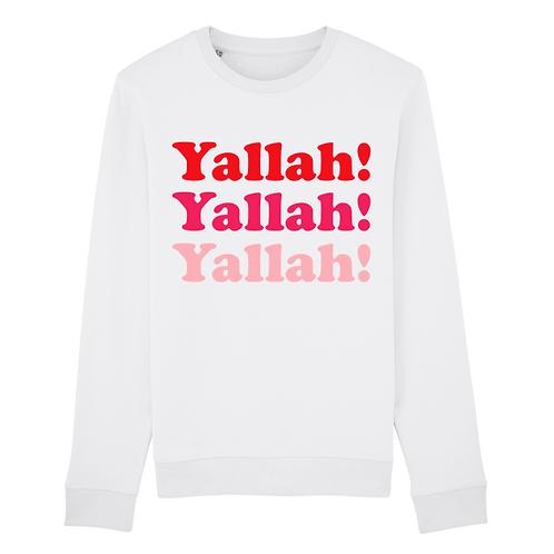 Sweatshirt Blanc Yallah Pink