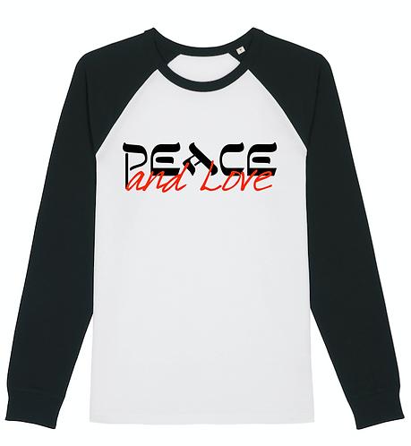 T-Shirt Peace & Love Unisexe Manches Longues