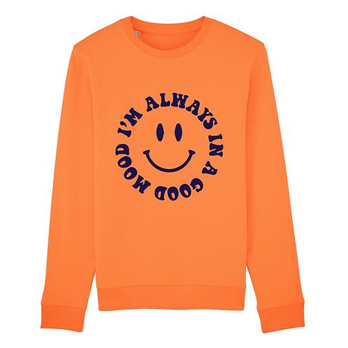 Sweat-Shirt Smiley Velours