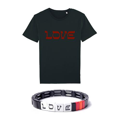 Coffret Love Velvet : T-Shirt + Bracelet Love Red&Black Simone à Bordeaux
