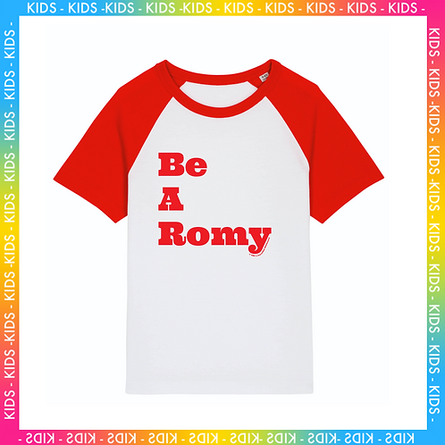 T-Shirt Kid Be A Romy, Be A Jane. Velours