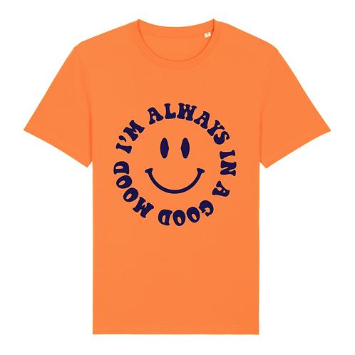 T-Shirt I'm Always in a Good Mood Velvet Smiley
