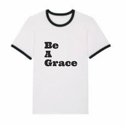 Be a Grace T-Shirt Marquage Glitter Noir