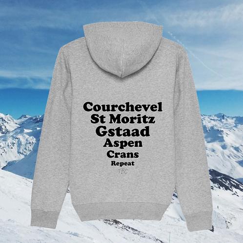 Hoodie Gris Stations de Ski
