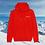 Thumbnail: Hoodie Rouge Stations de Ski