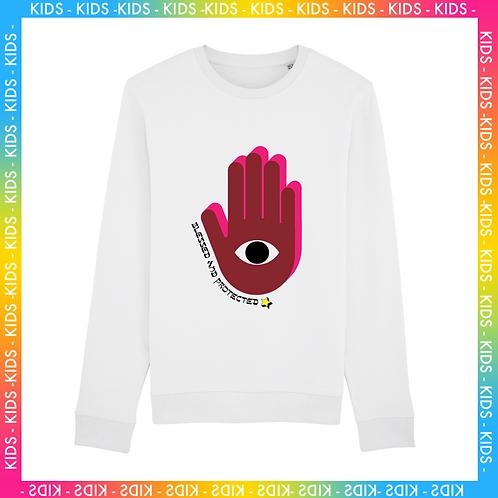 Sweatshirt Blessed & Protected Enfant