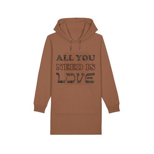 Robe Hoodie à Capuche All You Need Is Love