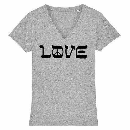 T-Shirt Love & Peace Black Logo
