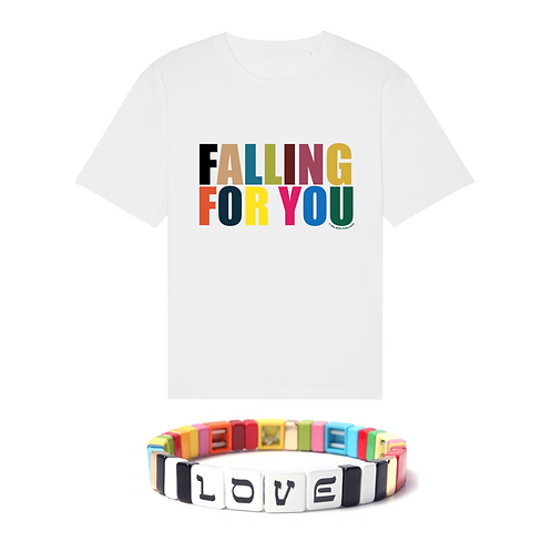 Coffret Falling For You : T-Shirt/Sweat+Bracelet Multico Love Simone à Bordeaux