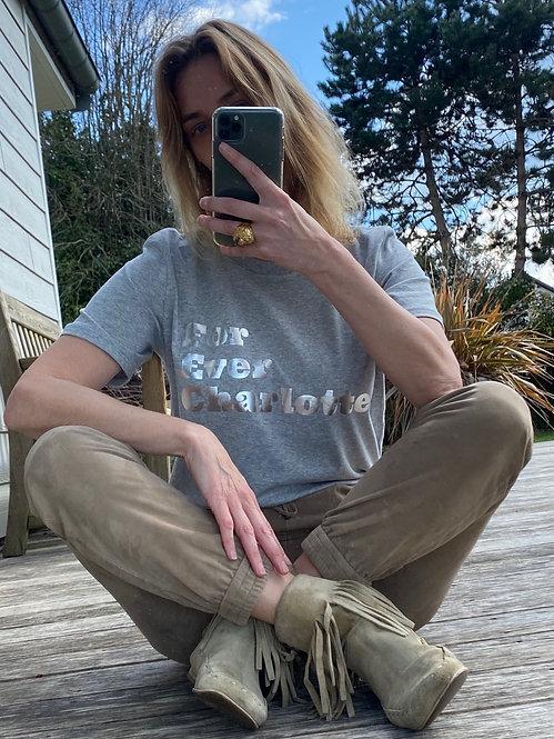 T-Shirt Forever Charlotte Silver