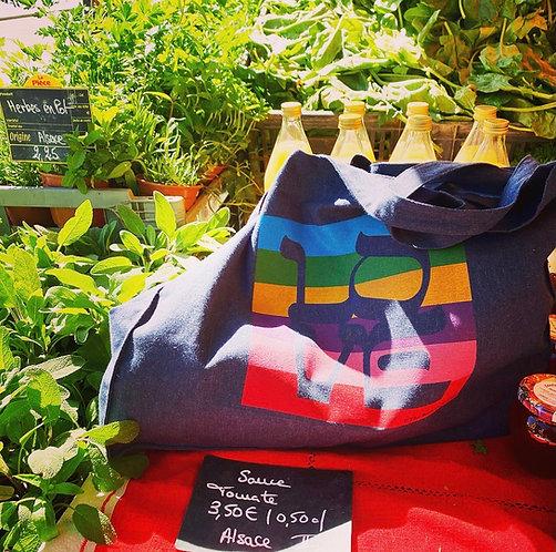 Cabas Love New-York Rainbow