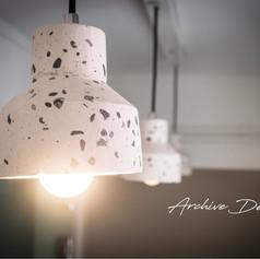 terrazzo lamp close up