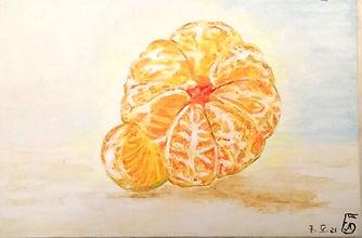 painting a tangerine рисуем мандарин