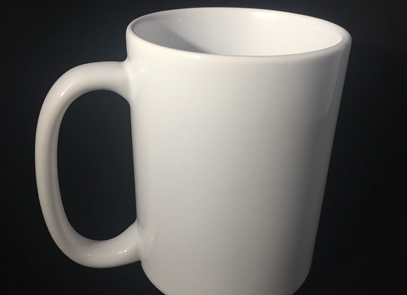 15oz. White Coffee Mug