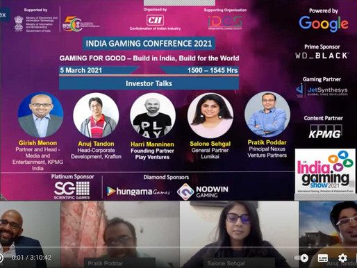 An investor's perspective on the Indian gaming space: Indian Gaming Conference 2021