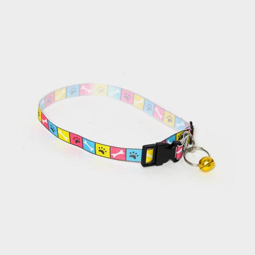 326ff6d9a32e Collar Ajustable de Tela para Gato con Cascabel