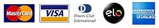 bandeira de cartoes- mastercard - visa - dinner club-elo-american express