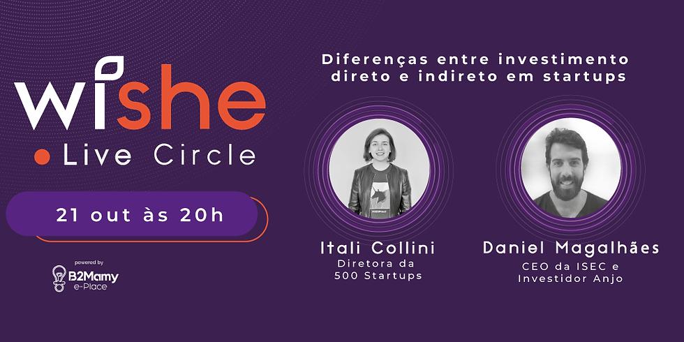 Wishe Live Circle - Diferenças entre investimento direto e indireto em startups