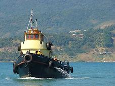 Operações e Transportes marítimos como balsa, rebocador, apoio e outros