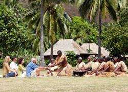 Fiji Trip Planner   GeoLuxe Travel   people meditating in the tropics