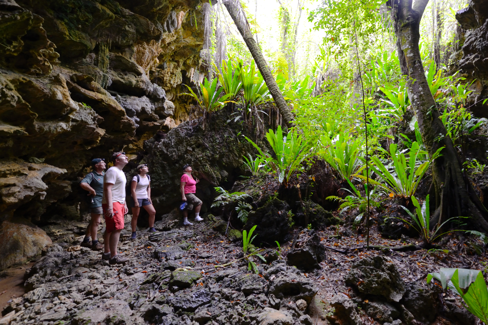 Cook Islands Trip Planner | GeoLuxe Travel | people hiking in the tropics