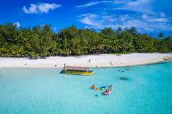 Cook Islands Trip Planner | GeoLuxe Travel | overhead view of the beach