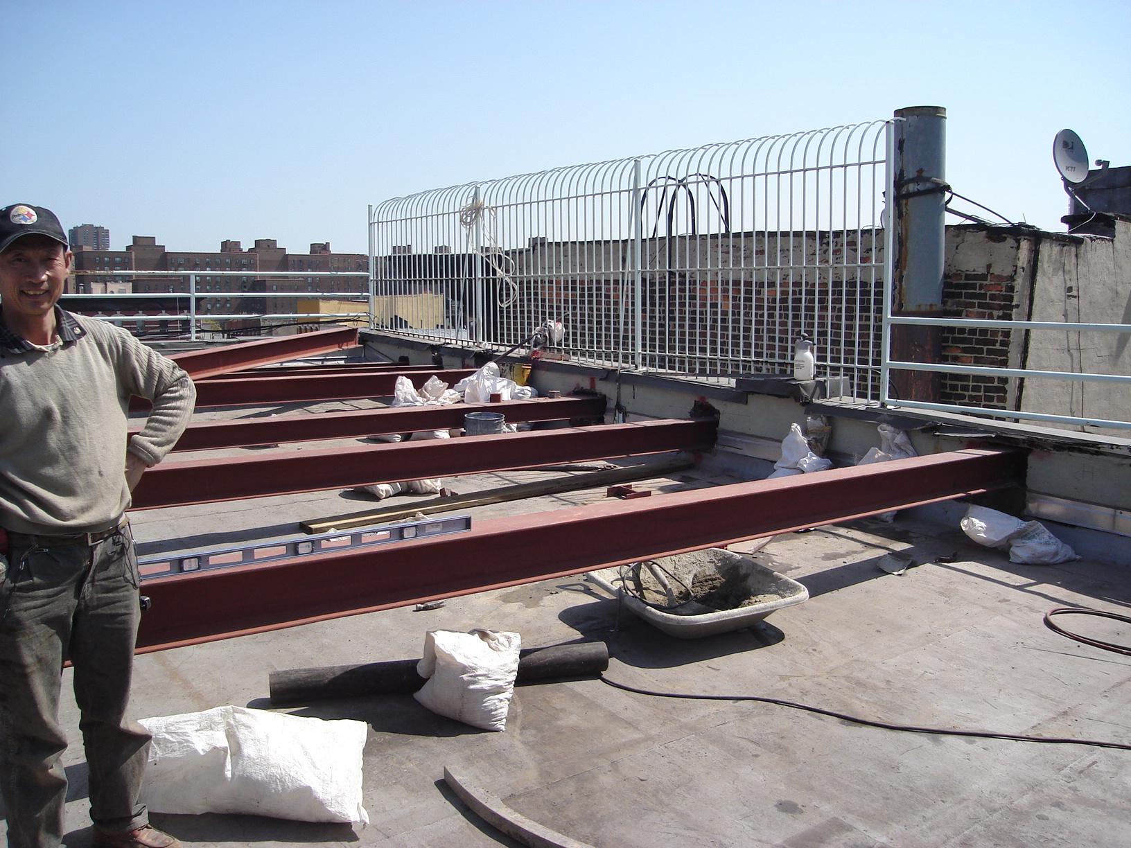 east village roof garden structural steel 04-24-08