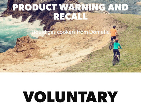 IMPORTANT - DOMETIC PRODUCT RECALL