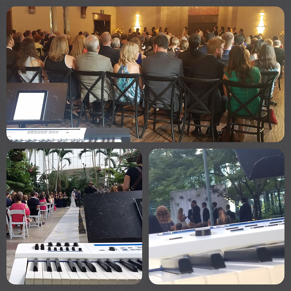 Multiple Weddings in St Louis for a Pianist Dave Becherer