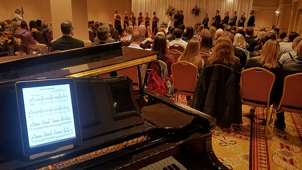Ceremony music by Pianist Dave Becherer at a Clayton Wedding in St Louis