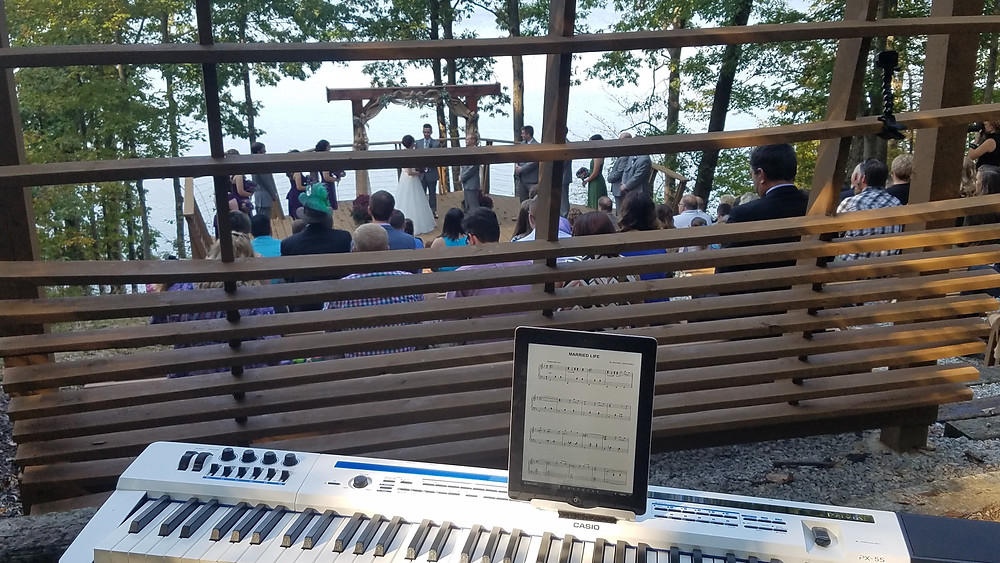 Wedding Piano during Ceremony at Touch of Nature