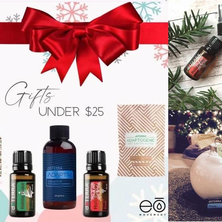 Gifts under $25  and Simple Holiday DIYs!  Saturday November 28th!  10:30 am!