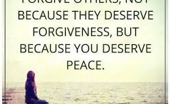 On Forgiveness...